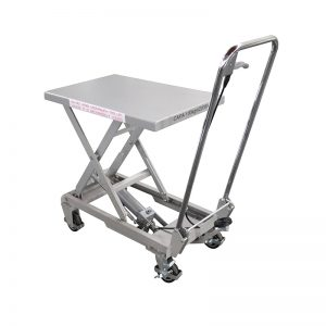 Aluminum/manual scissor stainless steel lift table