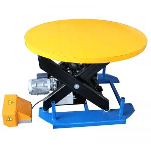 HRL Stationary lift table with carousel turntable