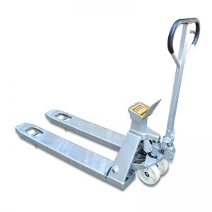 Stainless steel mobile weighing cart