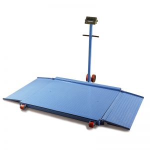 Mobile floor scale