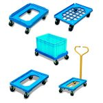 PD250 plastic container dolly