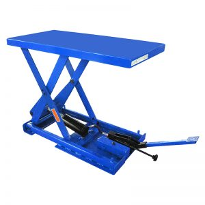 FBX stationary foot pump scissor lift table